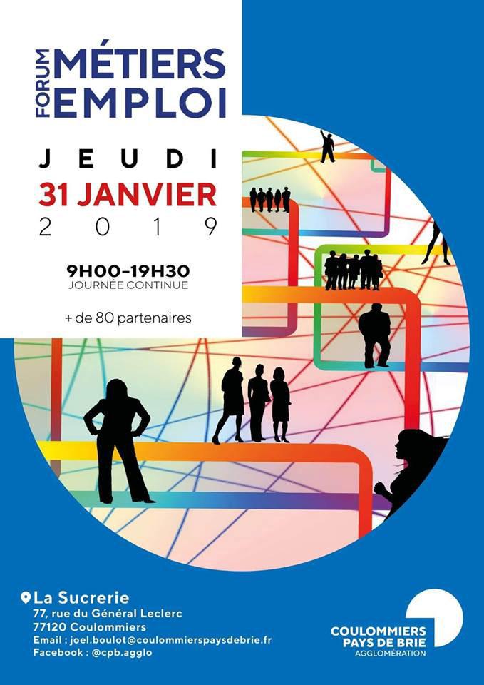 Forum métiers emploi jeudi 31 janvier 2019